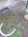 雨の中埋設完了です。