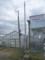 菖蒲で一号柱の鋼管ポール建柱です。