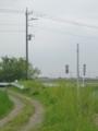 東電さんの経由柱が建っていました。