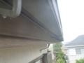 家の対角線まで雨どい下をサドル止めしていきます。