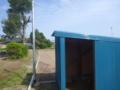 ポンプ小屋が出来上がっていました。