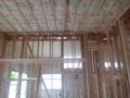 天井ボード張りは、まだ途中でした。