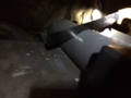 UBの換気扇のパイプの切断中です。