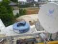 BSアンテナ受信できる鋼管ポール建柱場所を調査中です。