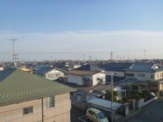 鴻巣市鎌塚T様 東京スカイツリー方向の景色。