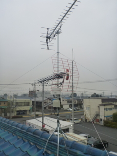 鴻巣市鎌塚T様 アンテナ工事完了。
