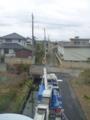 東電柱からの引込DV線です。