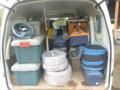 全下ろし前の軽バンの荷台です。