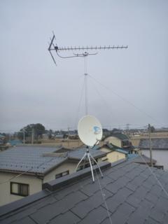 羽生市今泉F様 アンテナ工事完了。