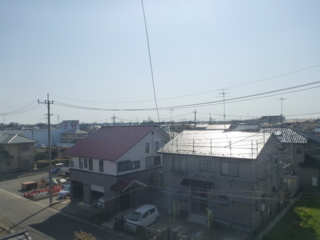 吉見町東野S様 東京スカイツリー方向の景色(完了)。