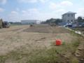 駐車場造成工事が今日から始まりました。