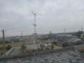 屋根上のアンテナです。