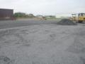 駐車場は、砕石敷き詰め中でした。