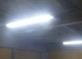 既設蛍光灯器具でLEDが点きました。