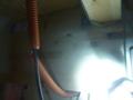 光配管からアンテナケーブルが出てきました。