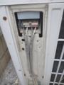 この日立のエアコンの室外機-室内機の渡線は4芯でした。