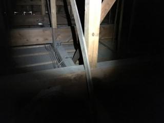 漏電該当箇所が、2Fからアクセスできるのに助かります。