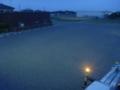 夕暮れ以降、いい感じで駐車場照らせています。