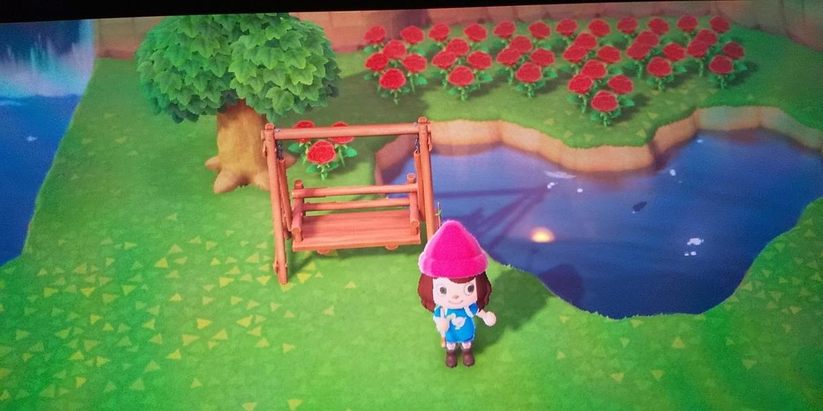 あつ森赤バラ