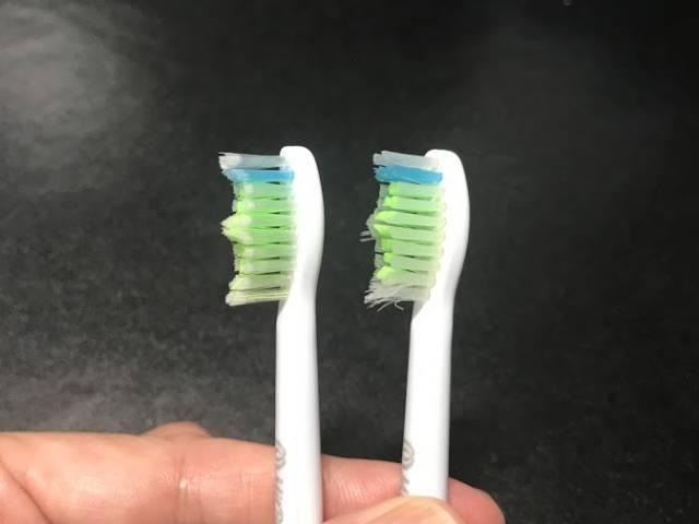 替えブラシ互換品の使用前使用後