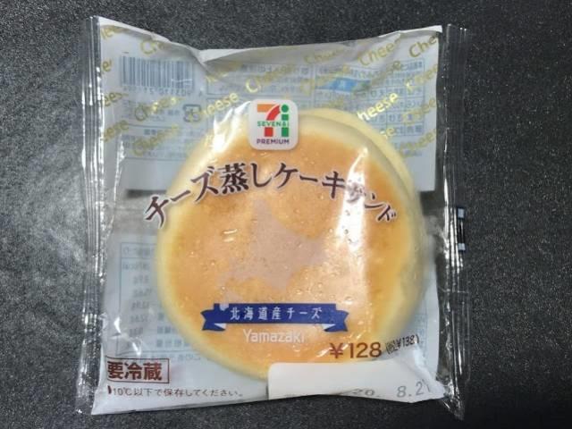チーズ蒸しケーキサンドのパッケージ