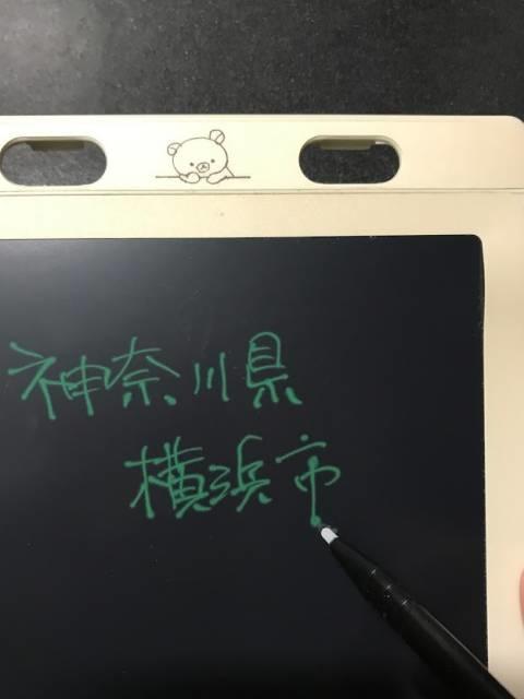 スプリング12月号増刊付録の「デジタルメモ」で字を書いた様子