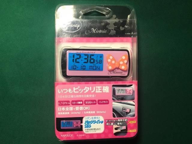 ナポレックスの電波時計(ミニー)のパッケージ