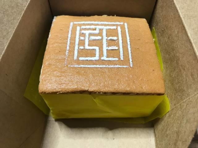台湾甜商店の「甜カステラ」のパッケージの中