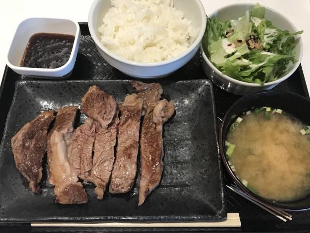 吉野家のリブロースステーキ定食