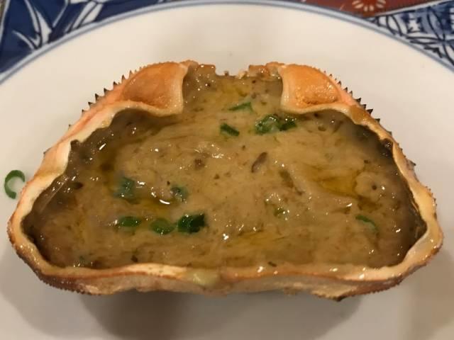 磯丸水産の「蟹味噌甲羅焼」
