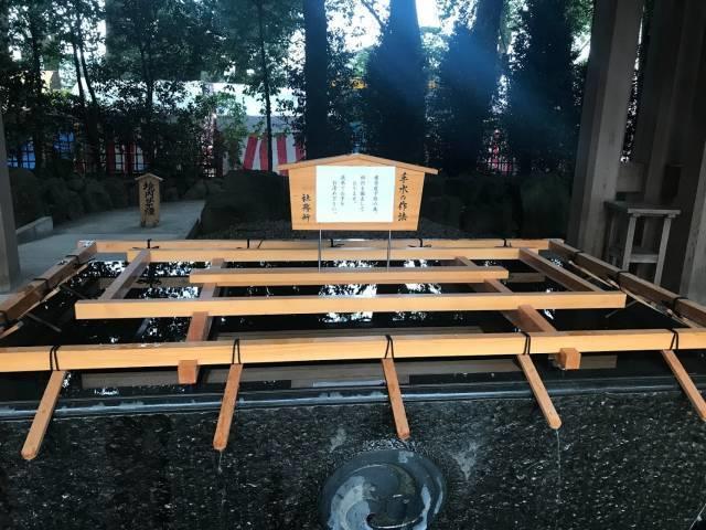 寒川神社の手水舎
