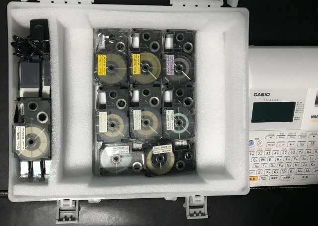 収納ケースに入れたテープカートリッジ
