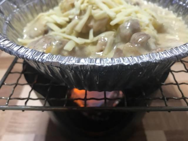 松屋「シュクメルリ鍋定食」をお座敷コンロで温める