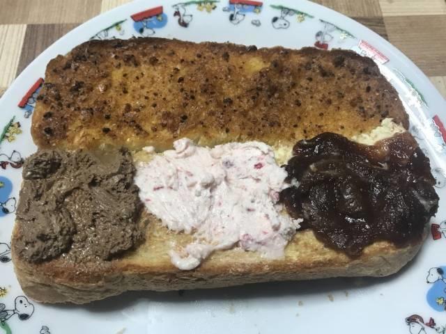 カルディのトーストのお供4種ぬり