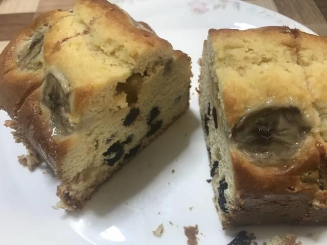 メスティンとオーブンで焼いた酒パウンドケーキ
