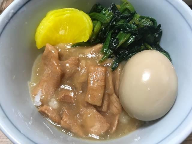 台湾鶏肉飯のできあがり