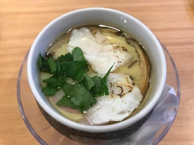 「炙り真鯛と柚子の銀餡茶碗蒸し」