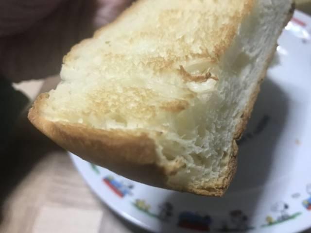 「おうち乃が美」再挑戦2回目の食パンをトースト
