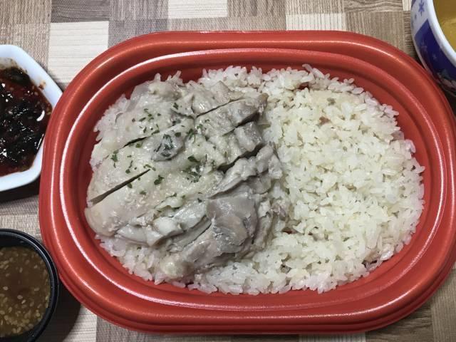 「シンガポール名物 海南鶏飯」をレンチン