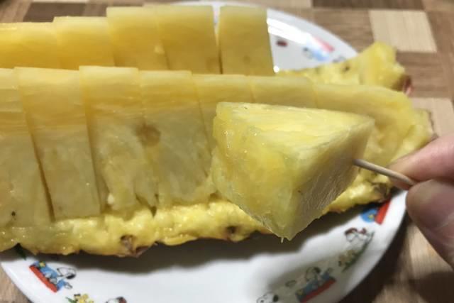 ジューシーな台湾パイン