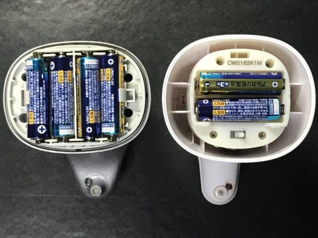 ミューズノータッチ新旧オートディスペンサーの電池
