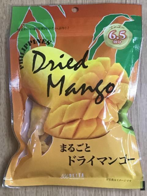 フィリピン産のドライマンゴーのパッケージ