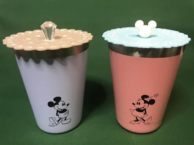 ディズニーデザインタンブラーとダイソーのカップカバー