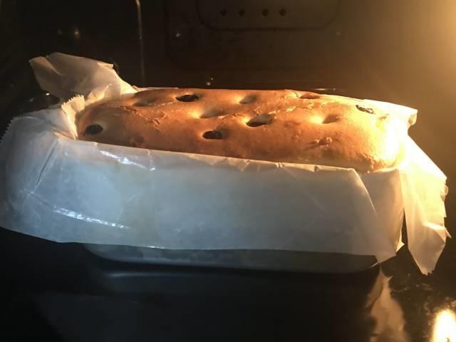焼き上がったチーズケーキ