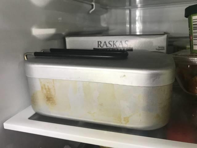 メスティンのまま冷蔵庫で冷やす