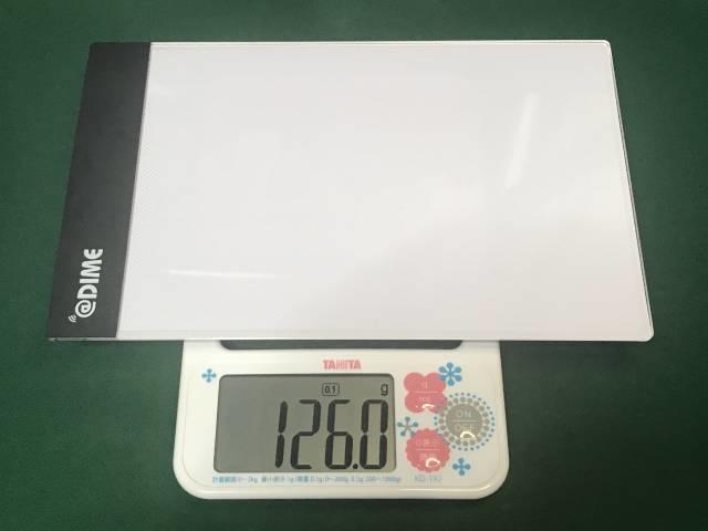「LEDライティングボード」の重さ