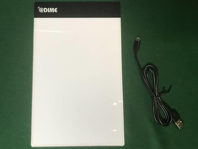 DIME付録「LEDライティングボード」の内容物
