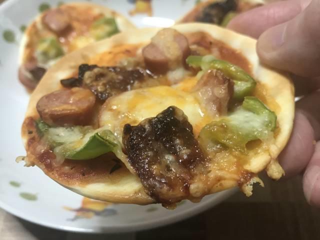 食べやすいサイズのミニピザ