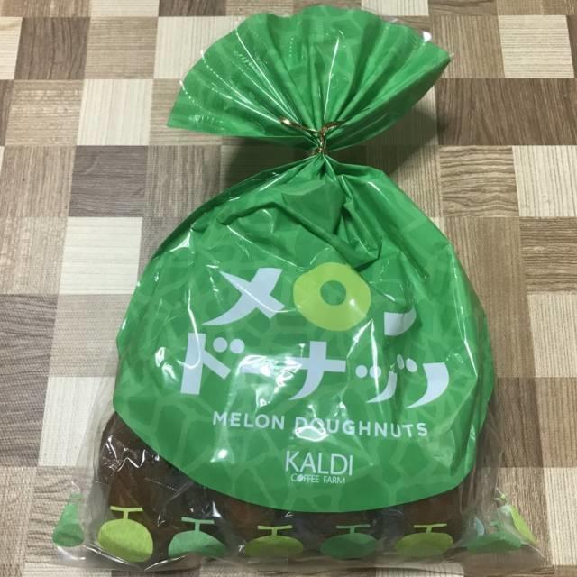 カルディの「メロンドーナッツ」パッケージ
