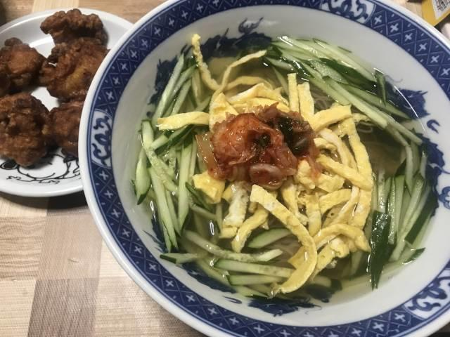 「韓国冷麺」の出来上がり
